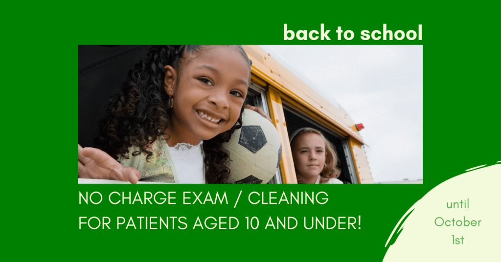 free exam and cleaning aged 10 and under