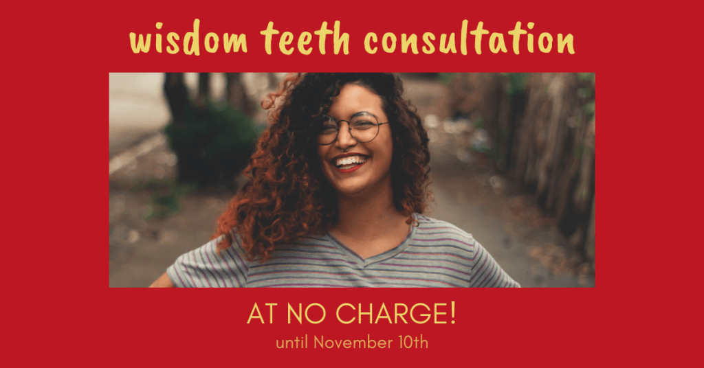 wisdom teeth consultation at no charge