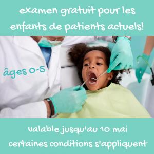 promotion examen gratuit pour enfants de patients